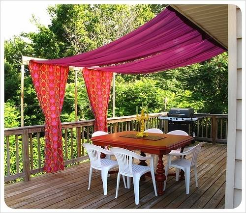 Covers are one of the most noticeable things about a porch. Just having a cover is already a statement in itself but you donu0027t necessarily have to build ... & 19 Great DIY Porch and Patio Home Improvement Projects