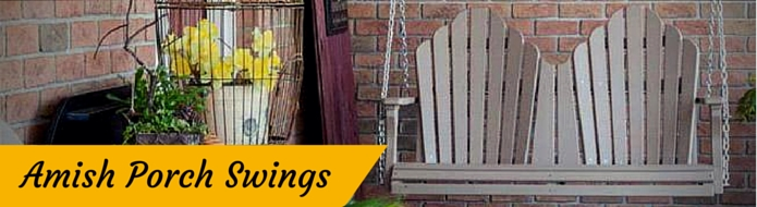 amish made porch swings