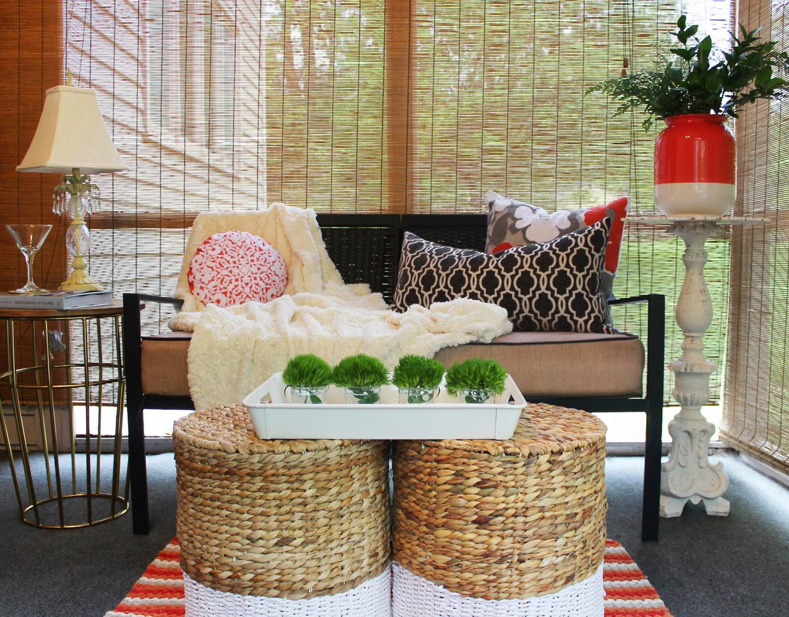 make it organize and decorative with baskets