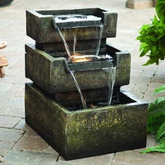 have some flow of water in your patio