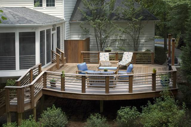 create a space from the walkway from your deck