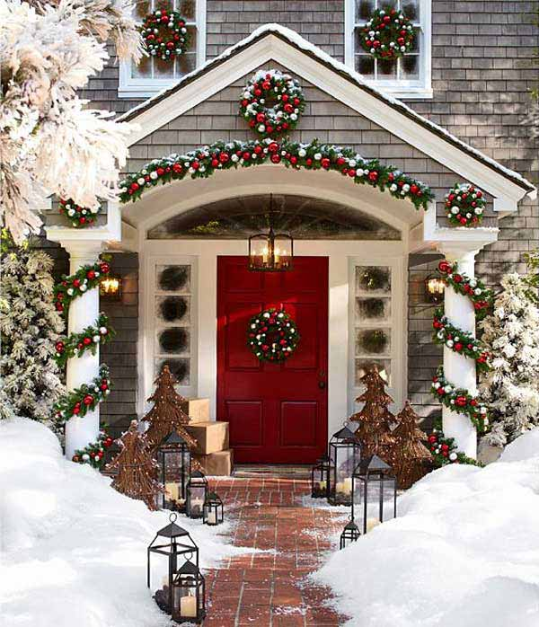 - 25 Great Porch Christmas Decorations For The Holidays