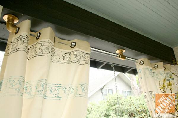 Do it yourself outdoor curtain rods gopelling making custom diy curtains for your porch or patio solutioingenieria Choice Image