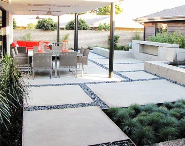 Concrete panel and gravel