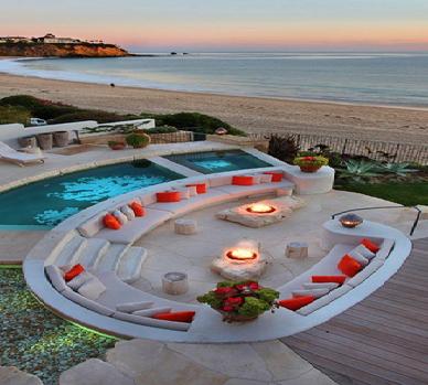 scenery of the beach design